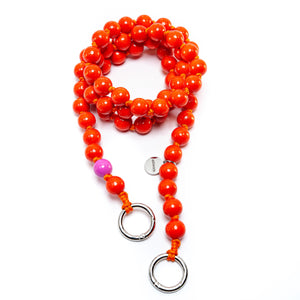 upbeads upbiz tapuz orange crossbody Handykette Holzperlenkette Holzperlen cellphone chain keychain wooden bead chain