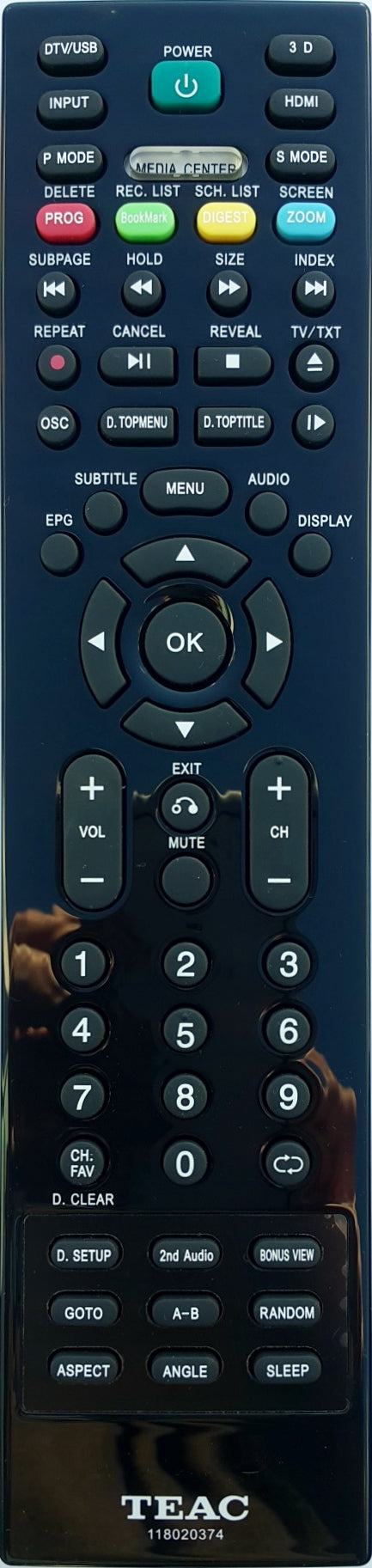 ORIGINAL TEAC REMOTE CONTROL 118020374  LE5851FH3D LE5094FH3D  TV - Remote Control Warehouse