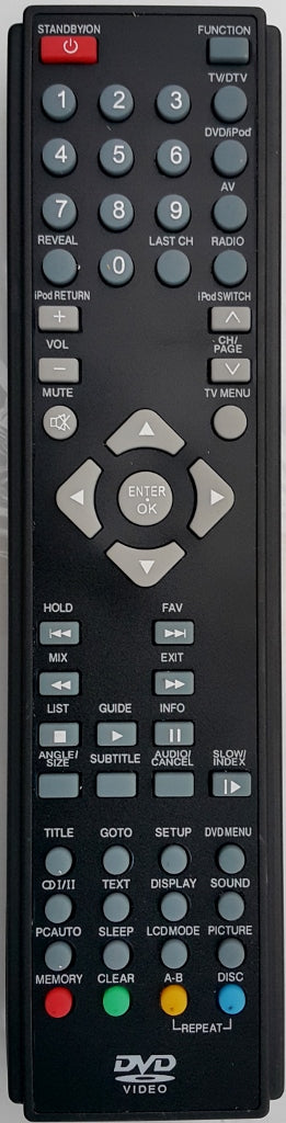 REPLACEMENT REMOTE CONTROL FOR NU-TEC NUE7121 LCD DVD COMBO TV - Remote Control Warehouse