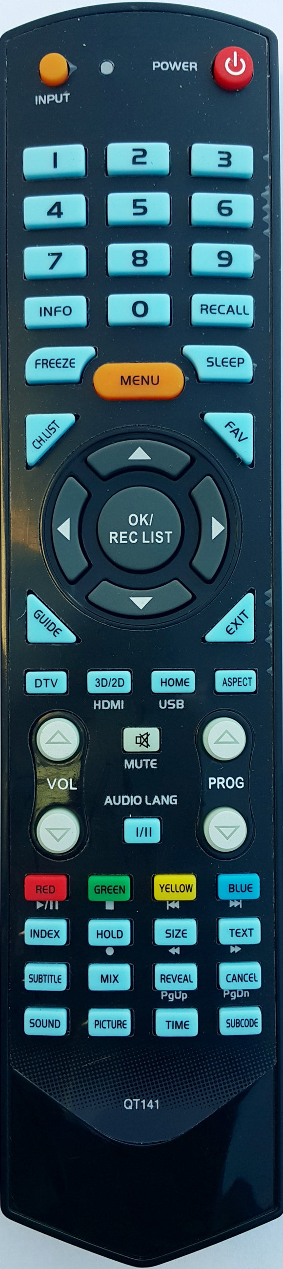 REPLACEMENT SONIQ REMOTE CONTROL QT141 - E46Z10A E46Z11A E55Z11A E55Z11A-AU TV - Remote Control Warehouse