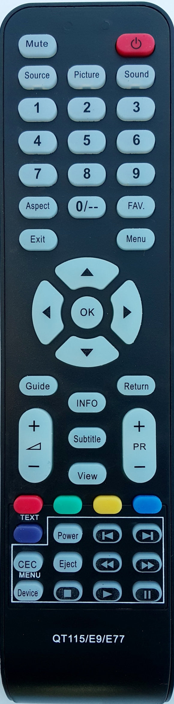 REPLACEMENT SONIQ REMOTE CONTROL QT115 -  QSL326TV2 TV - Remote Control Warehouse