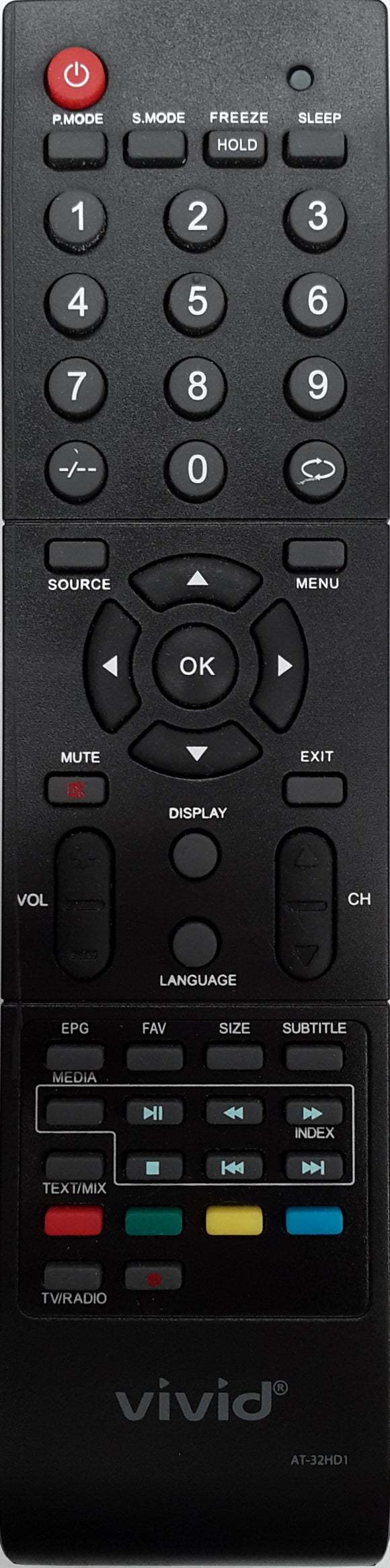 ORIGINAL VIVID REMOTE CONTROL - AT32HD1 LCD  TV - Remote Control Warehouse