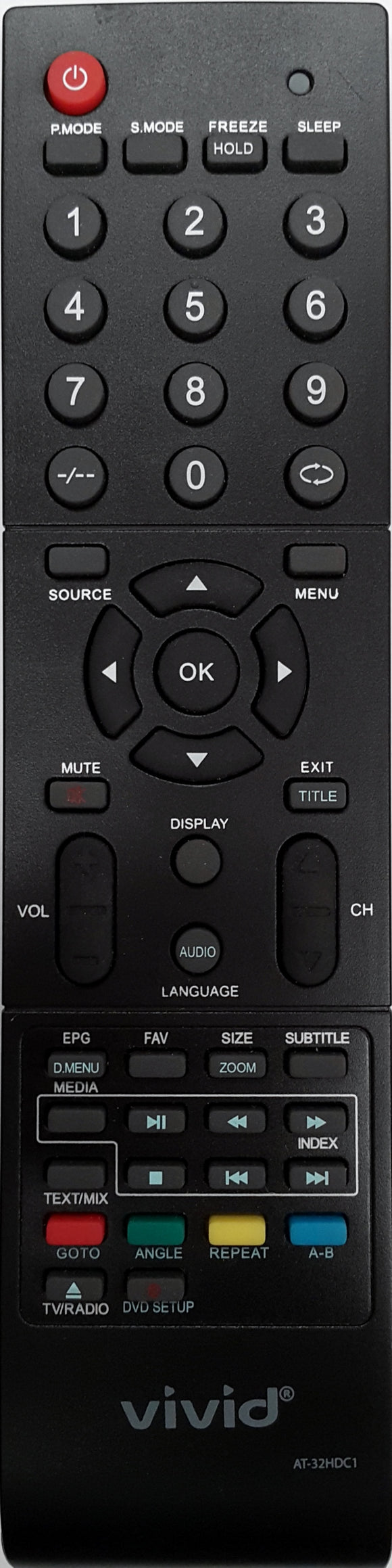 ORIGINAL VIVID REMOTE CONTROL - AT32HDC1 LCD TV