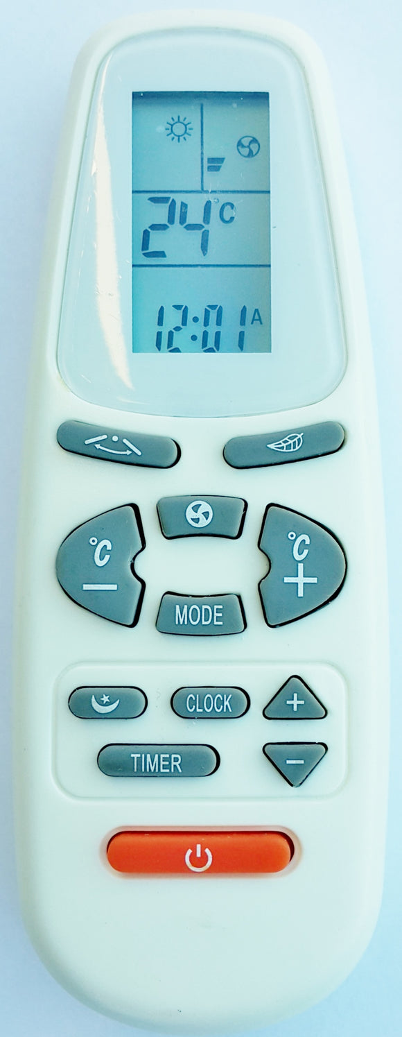 Global Air  Air Conditioner Remote Control YKR-C/01 - AM-12A4/R  ASW-H18B4/EJXS