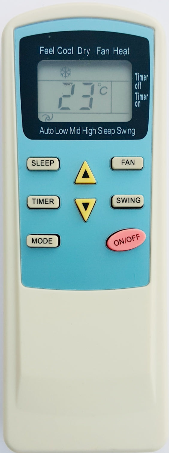 ONIX AIR CONDITIONER REMOTE CONTROL - TEM-64CHSABE - Remote Control Warehouse