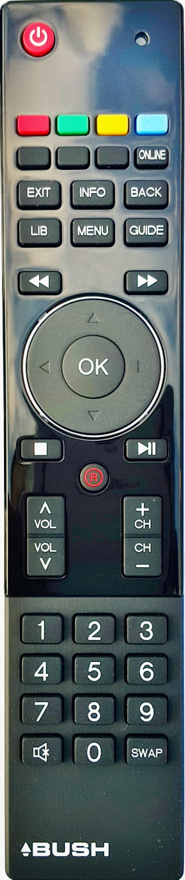 ORIGINAL BUSH REMOTE CONTROL BV21R050WRC - VIEW21 SMART DIGITAL TV RECORDER - Remote Control Warehouse