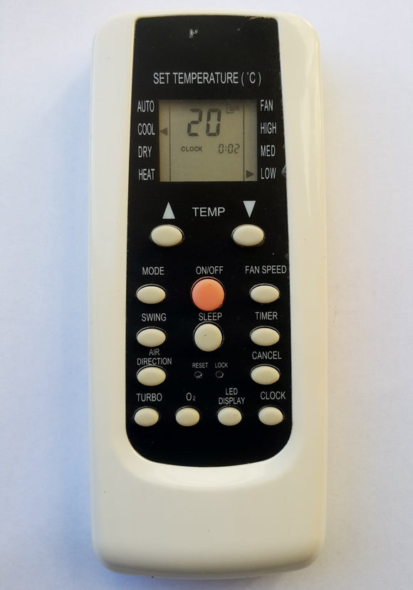 ORIGINAL CARRIER AIR CONDITIONER REMOTE CONTROL R101A/BGE