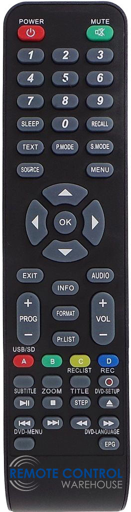 VIVO LEDTV32DHD TV REPLACEMENT REMOTE CONTROL