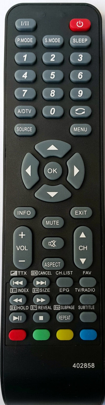 REPLACEMENT AWA REMOTE CONTROL 402858 - LC-47G58  LC47G58  TV