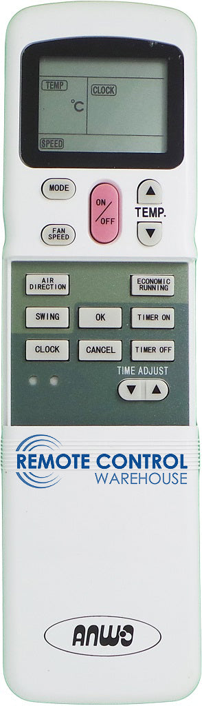 ANWO Air Conditioner Remote Control  R11HG-E - Remote Control Warehouse