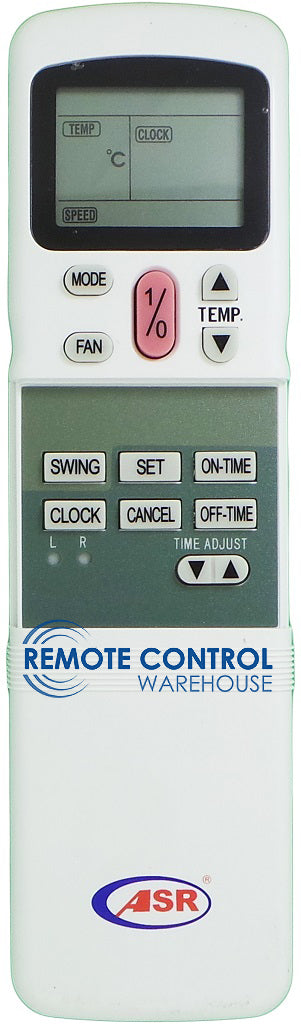 ASR Air Conditioner Remote Control - R11HQ/E