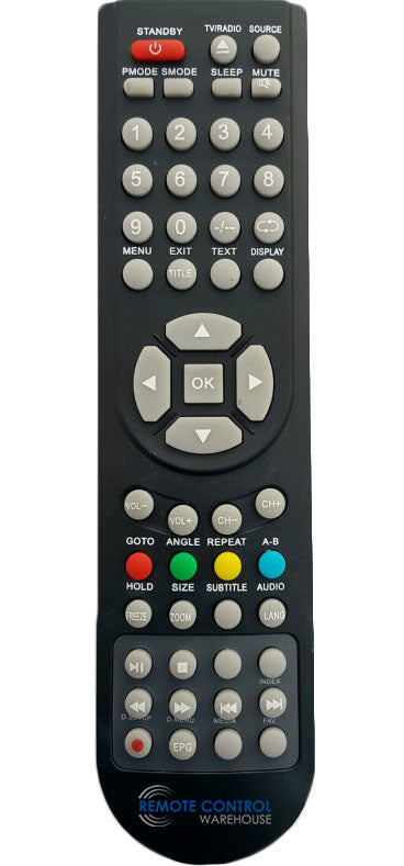 REPLACEMENT GVA REMOTE CONTROL -  GVA40UA2  LCD TV