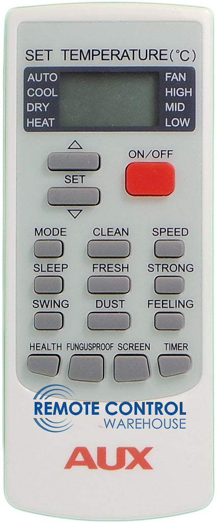 AUX  Air Conditioner Remote Control - YKR-H/002E  YKRH/002E - Remote Control Warehouse