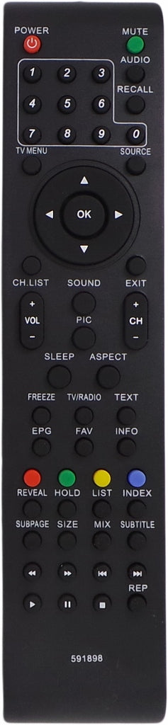 REPLACEMENT AWA Remote Control 509677 - MHDV2411-03   MHDV2411-F5 TV - Remote Control Warehouse