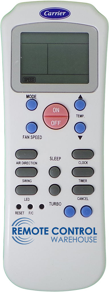 Original Carrier Air Conditioner Remote Control - R14A/CE - Remote Control Warehouse