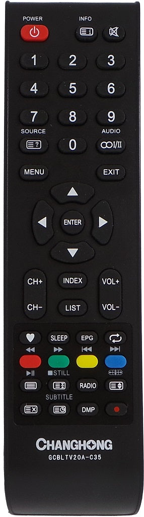 CHANGHONG REMOTE CONTROL GCBLTV20A-C35 GCBLTV20AC35  LED40C1600A - Remote Control Warehouse
