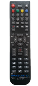 HITACHI REPLACEMENT REMOTE CONTROL CLE1018B CLE-1018A - VZC32HD5300 HD LED LCD TV DVD Combo