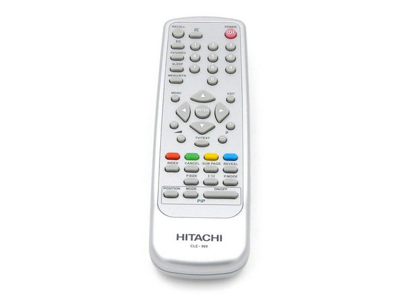 ORIGINAL HITACHI REMOTE CONTROL CLE-969 REPLACE CLE976 - 42PD580DTA  PDP TV - Remote Control Warehouse