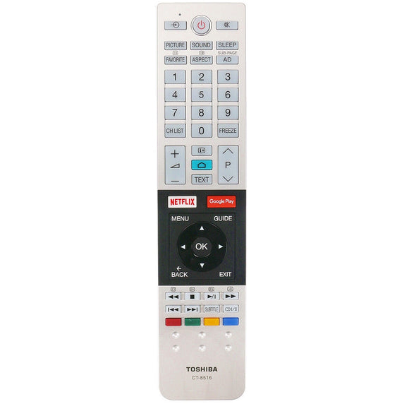 ORIGINAL TOSHIBA REMOTE CONTROL CT-8516 CT8516 - 65U7750A   65U7750A *SERIES  ULTRA-HD ANDROID TV