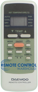 DAEWOO Air Conditioner Remote Control - R51/E - Remote Control Warehouse