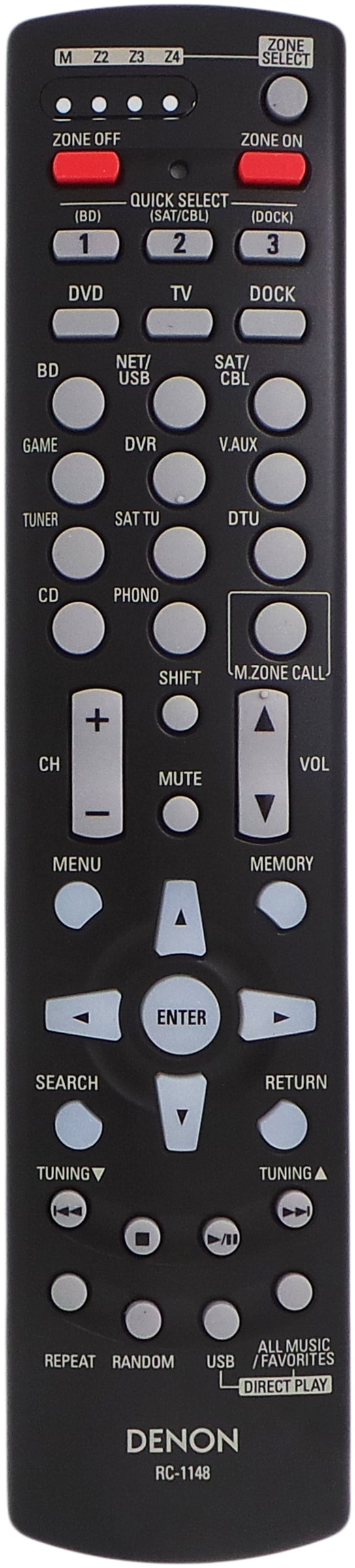 ORIGINAL DENON Remote Control RC-1148 - AVR-3311 AVR-4311 RECEIVER - Remote Control Warehouse