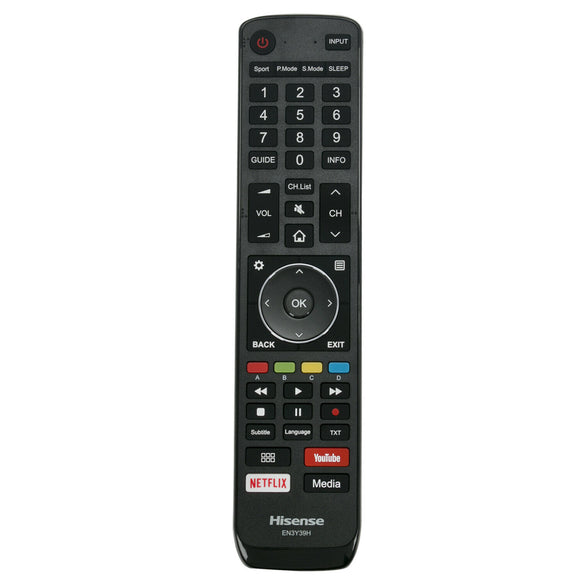 ORIGINAL HISENSE TV REMOTE CONTROL EN3Y39H suits 43P1, 55P1, 65P1  GENUINE