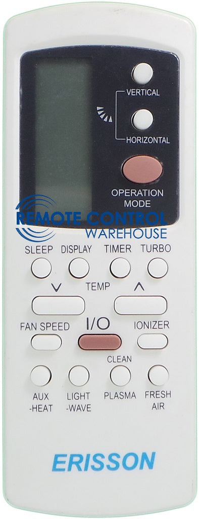 ERISSON Remote Control GZ-50GB-E1 - For ERISSON Air Conditioner - Remote Control Warehouse