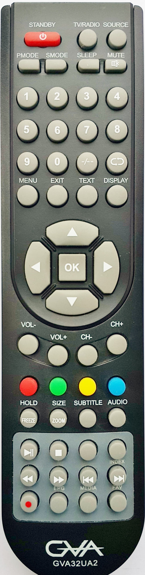 ORIGINAL GVA REMOTE CONTROL - GVA32UA2 TV