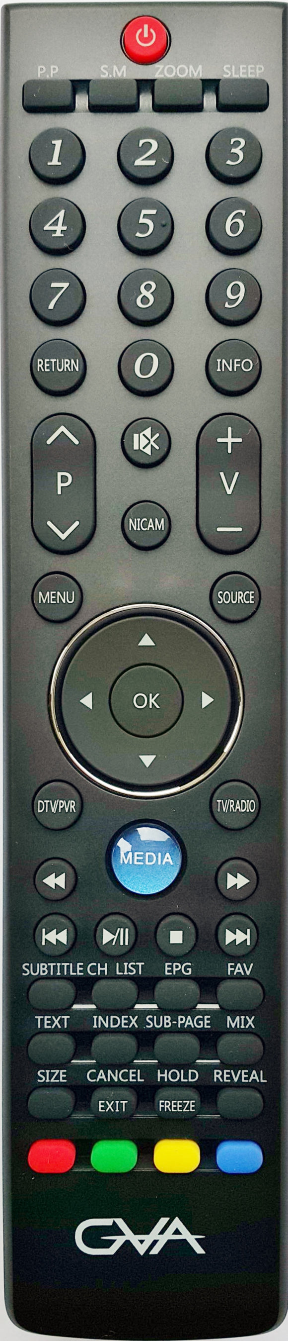 ORIGINAL GVA REMOTE CONTROL - GVA32E61   LED FHD TV