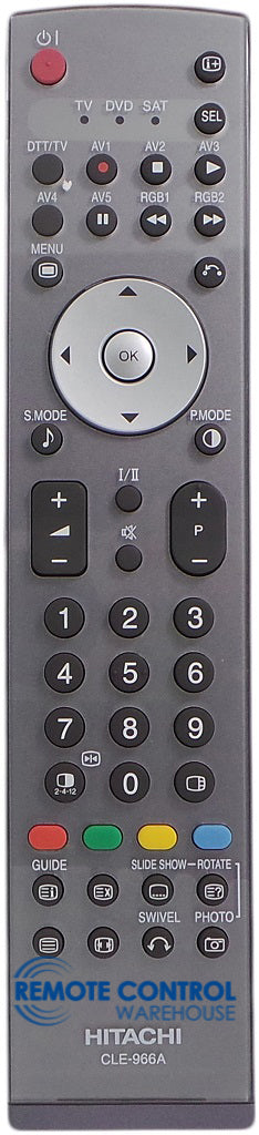 HITACHI REMOTE CONTROL CLE-966A - 32LD8700 42PD6700 42PD8700 42PD6000TA - Remote Control Warehouse