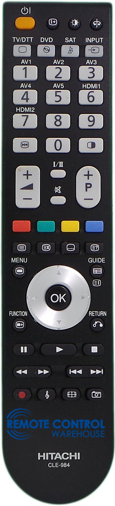 HITACHI REMOTE CONTROL CLE-984 Replace CLE-993 - P50H01AU P42H01AU L42X01AU TV - Remote Control Warehouse