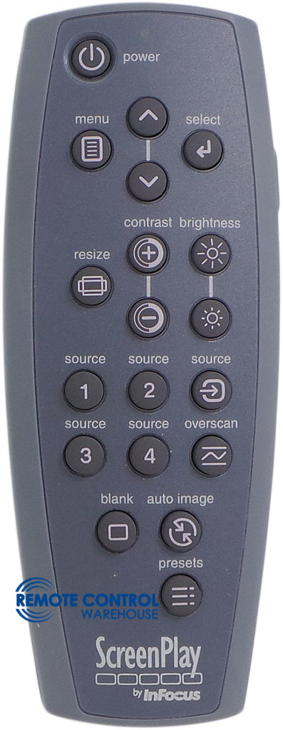 OROGINAL INFOCUS PROJECTOR REMOTE CONTROL  IN26 - Remote Control Warehouse