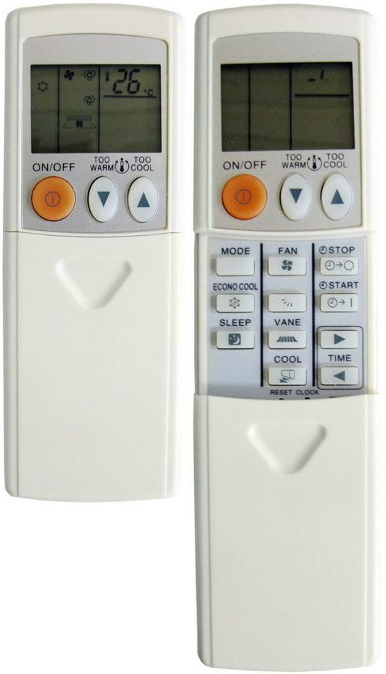 REPLACEMENT MITSUBISHI AIR CONDITIONER REMOTE CONTROL - MSZ-GA25VA, MSZ-GA35VA, MSZ-GA71VA - Remote Control Warehouse