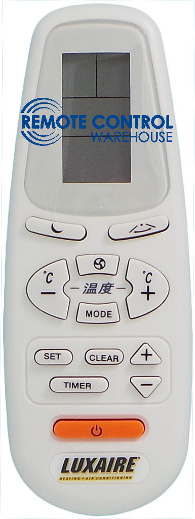 ORIGINAL LUXAIRE AIR CONDITIONER REMOTE CONTROL RC-5  P/N: 975-643-00