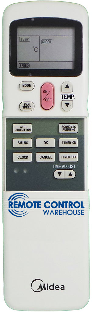 Midea Air Conditioner Remote Control - R11CG/E - Remote Control Warehouse