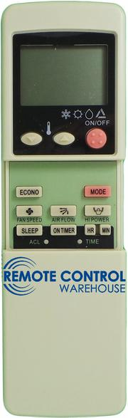 REPLACEMENT STARWAY AIR CONDITIONER REMOTE CONTROL RKN502A500 - Remote Control Warehouse