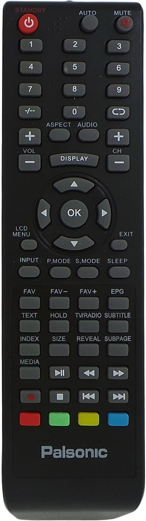 Original Palsonic Remote Control RC-826(Black)  - TFTV326FHD TFTV4000 FHD  TFTV4600 FHD  TFTV826HD  TV - Remote Control Warehouse