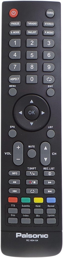 Original Palsonic Remote RC-604-0A RC6040A  - TFTV325FL  TFTV553LED   TV - Remote Control Warehouse