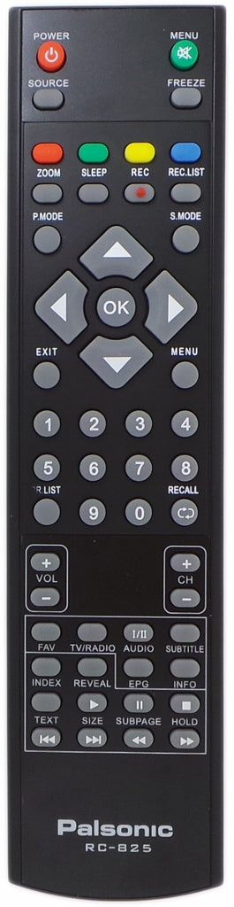 Original Palsonic Remote Control RC-825 RC825  - TFTV323FHD  TFTV475LED   TFTV825HD  PDP4012HD  PDP4212HD  PDP5012HD   TV - Remote Control Warehouse