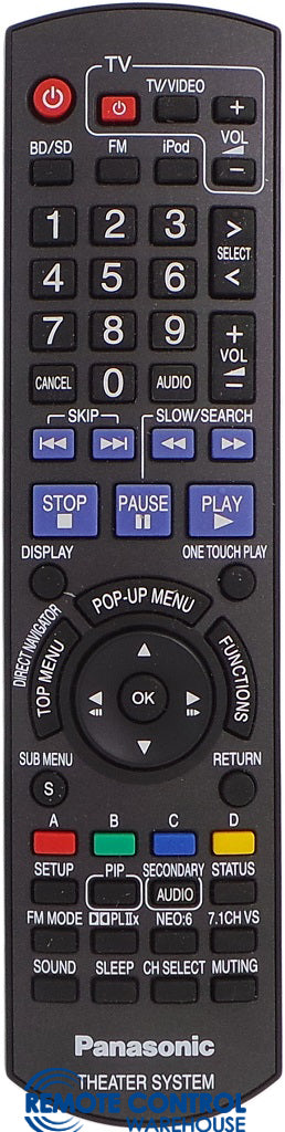 ORIGINAL PANASONIC REMOTE CONTROL N2QAKB000067 N2QAKB000061 - SC-BT100 SA-BT100 Blu-ray Disc Home Theater Sound System