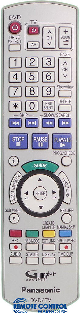 ORIGINAL PANASONIC REMOTE EUR7659Y60 - DMR-EH75V DMREH75V DVD RECORDER - Remote Control Warehouse