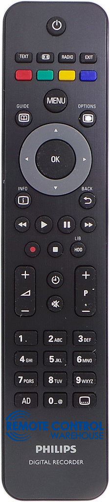 Philips Remote Control RC2484402/01 - HDT8520 HDT8520/05 TWIN TUNER VIDEO RECORDER