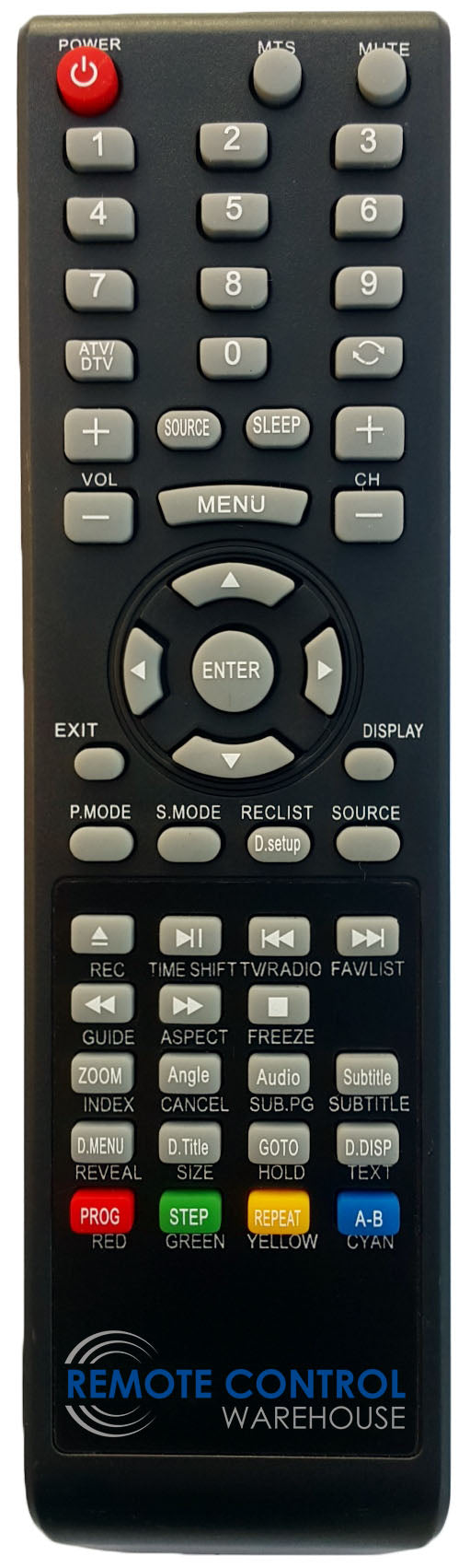 REPLACEMENT NEONIQ REMOTE CONTROL - LCF3218 LCD TV