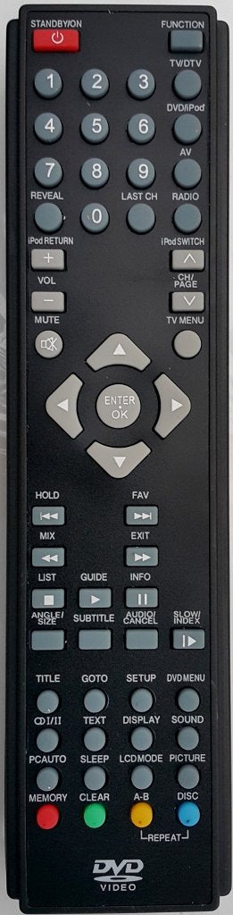 TELEFUNKEN REPLACEMENT REMOTE CONTROL - TLCDD19 LCD TV