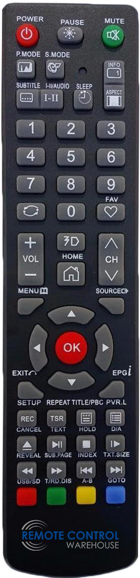 REPLACEMENT SONIQ REMOTE CONTROL QT1E - N55UX17C-AU N55UX17CAU N55UX17C TV - Remote Control Warehouse