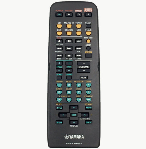 ORIGINAL YAMAHA REMOTE CONTROL SUBSTITUTE RAV300  HTR5630 HTR5730 - Remote Control Warehouse