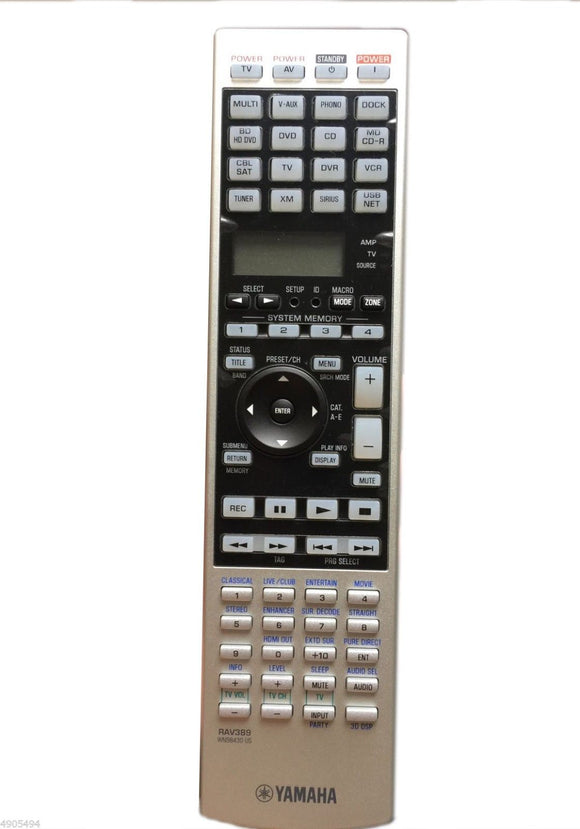 ORIGINAL YAMAHA REMOTE CONTROL RAV389 Part # WN984300 - DSP-Z7 RX-Z7 RX-Z7BL - Remote Control Warehouse