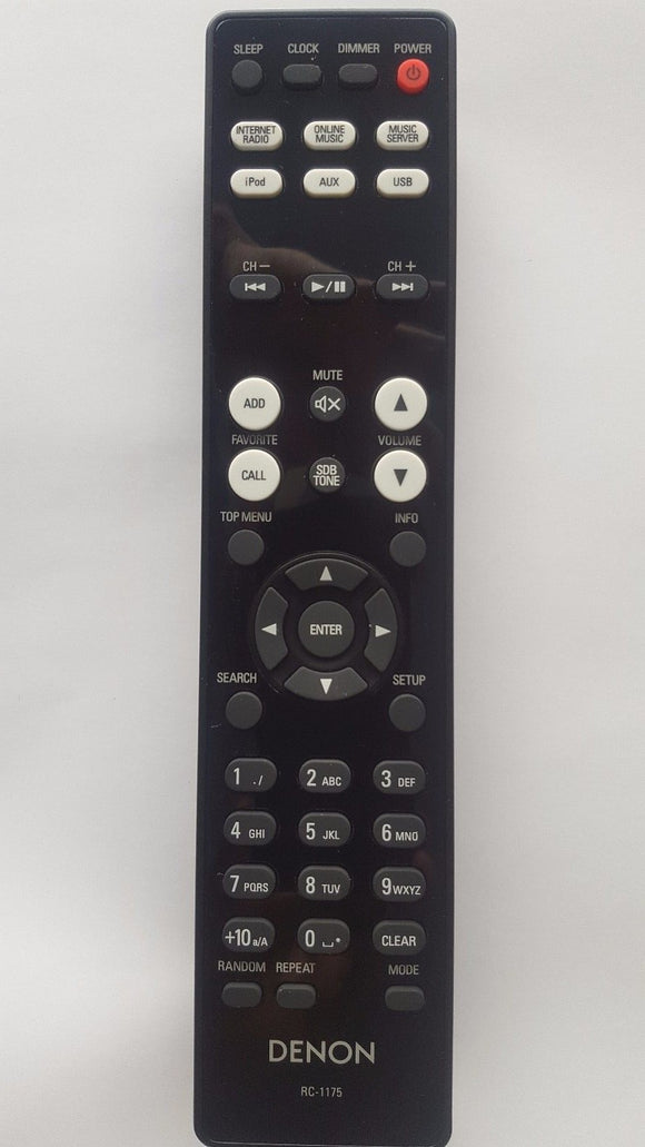ORIGINAL DENON REMOTE CONTROL RC-1175 RC1175  - DRA-N5 RCD-N9 NETWORK CD RECEIVER - Remote Control Warehouse