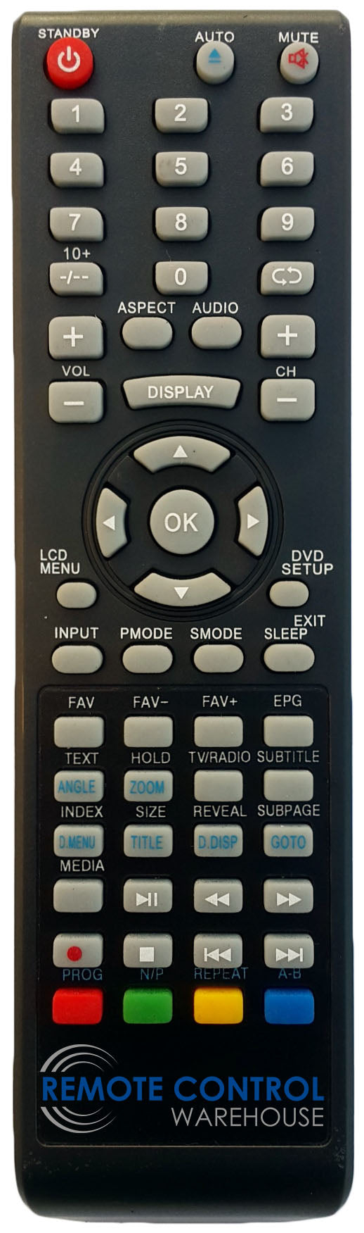TELEFUNKEN REPLACEMENT REMOTE CONTROL - LCD2609DVD  LCD TV