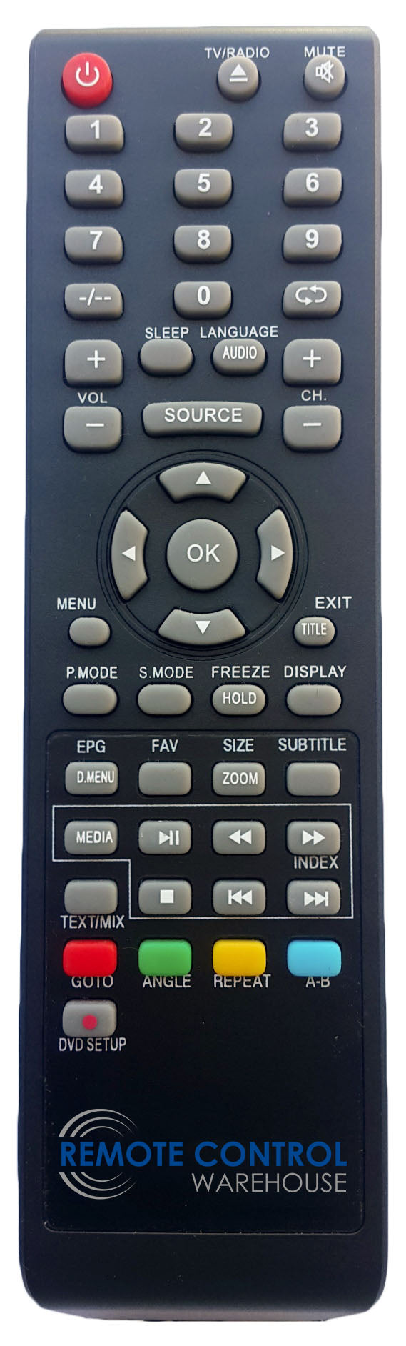 AKAI REPLACEMENT REMOTE CONTROL  - DVD-13203  DVD13203  LCD TV - Remote Control Warehouse